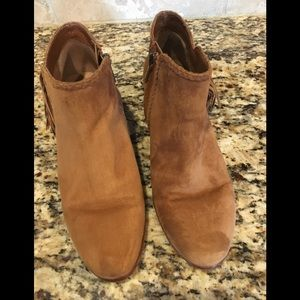 Sam Edelman Suede Tan Booties 6